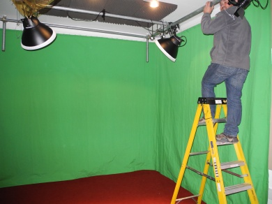 Greenscreen studio under construction